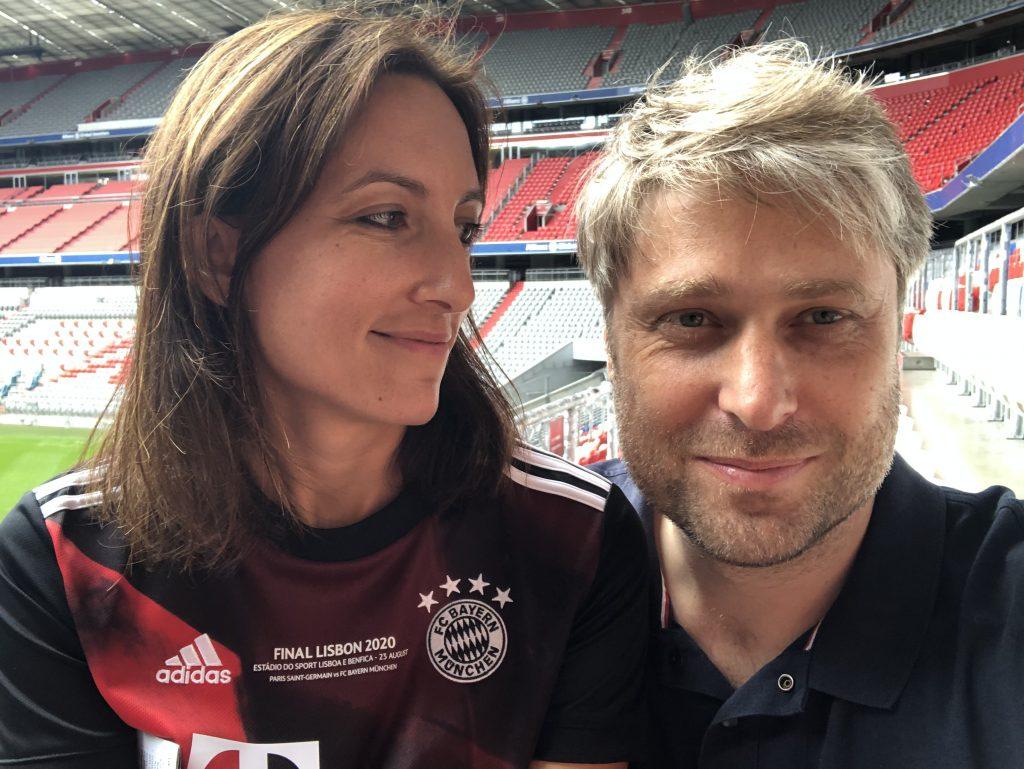 Sarah und Simon Betschinger Allianz Arena
